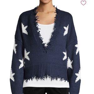 Wildfox Palmetto star sweater in oxford. L.  NWT
